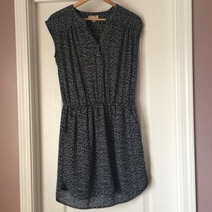 Lila Rose Womens Navy Lined Shift Dress Size Small